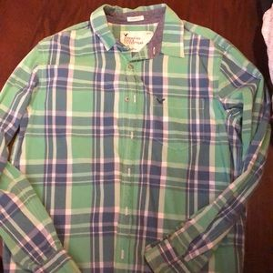 American eagle collared button up shirt